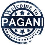 Pagani stamp on white background