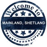 Mainland, shetland stamp on white background