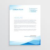 elegant blue letterhead template design - 133339646