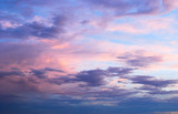 Early morning spring summer pink and blue cloudy sky © Kristy