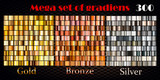 Gold, bronze and silver gradients. Huge vector collection - 133346482
