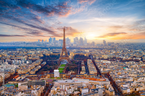 Fridge magnet Paris im Sonnenuntergang