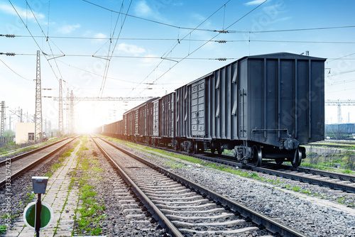 Poster Freight train transportation hub