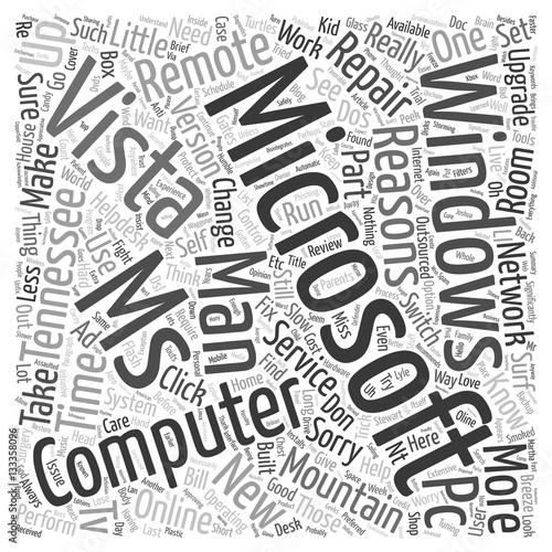Why Change To Windows Vista Part 1 of 4 text background wordcloud concept
