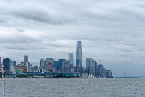 Poster Manhattan Sky Line with Freedom Tower