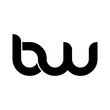Initial Letter BW Rounded Lowercase Logo