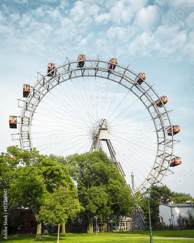 Foto op Canvas Wenen Ferris wheel in Prater - Vienna, Austria