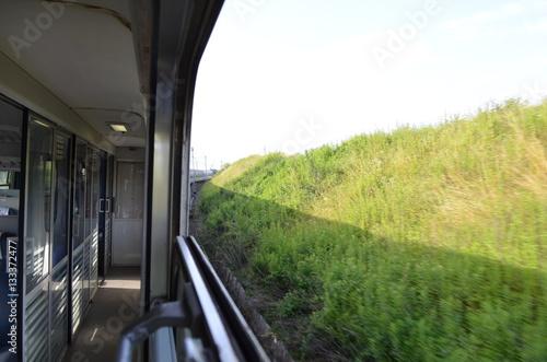 Poster Podróż koleją/Travelling on a train