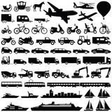 Fototapety Transport icon collection - vector silhouette