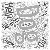Boredom and variety Word Cloud Concept