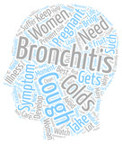 bronchitis and pregnancy text background wordcloud concept