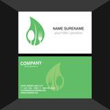 fork leaf logo.business card