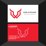letter W wing logo.business card