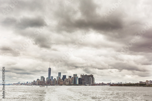 New York, Downtown Manhattan epic view from the river Poster