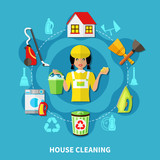 Cleaning House Round Composition