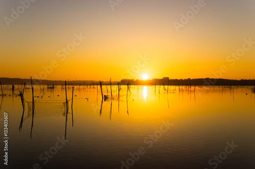 Poster 朝焼けの湖畔