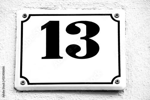 Poster Hausnummer dreizehn