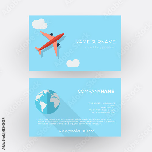 Poster airplane in the sky,travel agency. vector professional business