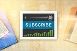 subscribe word on tablet