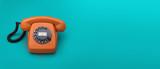 Fototapety Retro telephone header