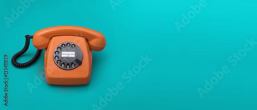 Retro telephone header