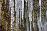 Die Ammer und die Schleierfälle im Winter mit Eis und Schnee im Allgäu