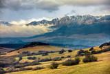 snowy peaks of Tatra mountains
