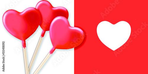 Poster Pomme d'amour cœur,amour