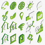 illustration of info graphic eco icons set concept in isometric 3d graphic