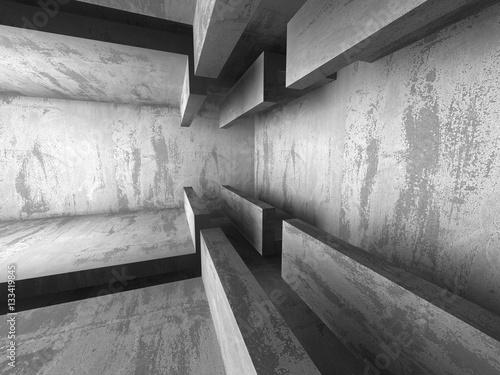 Abstract concrete architecture basement room geometric backgroun © VERSUSstudio
