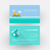 resort on reef ,travel agency. vector professional business card