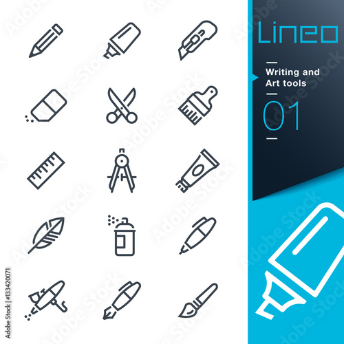 Lineo - Writing and Art tools line icons