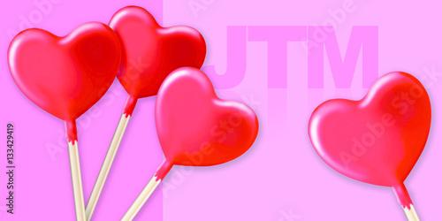 Poster cœur pomme d'amour