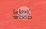 Graphic wood texture coral - 133432430