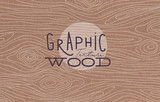 Fototapety Graphic wood texture brown