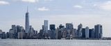 Panorama fo New York City skyline with Freedom Tower and sailboats seen from Hudson River - 133434633