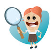 Постер, плакат: searching businesswoman clipart