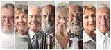Montage of elderly people