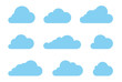 Cloud shapes design vector set. Data technology icons pack - 133443042
