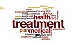 Treatment animated word cloud, text design animation.