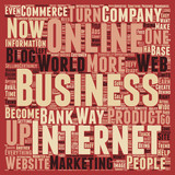 Defy Limits With An Online Business text background wordcloud concept