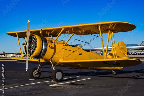 Zdjęcia Yellow Biplane in an Airshow