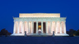 Lincoln Memorial in the National Mall, Washington DC. Lincoln Memorial on blue sky background in the dusk. - 133464295