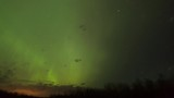 Green Fire Curtain in Northern Lights
