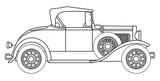 Early Motor Car Outline