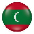 Silhouette of Maldives button