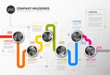 Vector Infographic Company Milestones Timeline Template