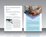 Vector modern brochure / Annual report / Design templates / With backgraund paper White