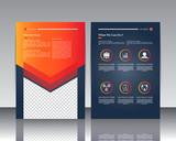 Vector modern brochure / Annual report / Design templates / With backgraund paper Dark