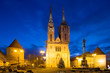 morning view of Zagreb cathedral. Croatia.